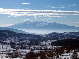 Falakro - Mount Falakro, seen from the north (from Kochan, Bulgaria)