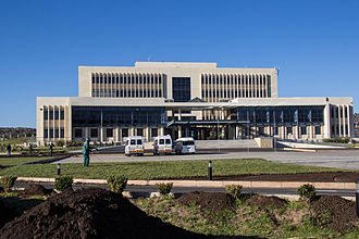 The Parliament building in Maseru Chinese Lesotho project Lesotho Parliament II.jpg