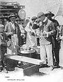 Chocolatero and churrero in Vigo, ca. 1900 - Eugenio Krapf photo.jpg