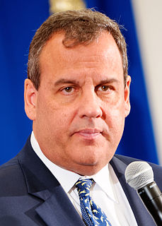 Chris Christie 55th Governor of New Jersey, former U.S. Attorney for the District of New Jersey