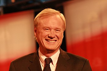 English: Chris Matthews at presidential debate...