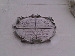 Photo of Christopher Wren white plaque