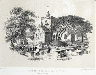 Llanbadarn Fawr, Ceredigion - Image: Church of Llanbadarn Fawr, near Aberystwyth