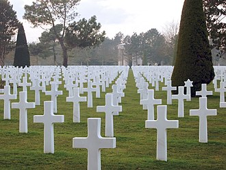 Saving Private Ryan - The opening and closing scenes of the film are set in the Normandy American Cemetery and Memorial.