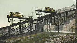 Streetcars in Cincinnati - Inclines were used to take the streetcars up steep hills.