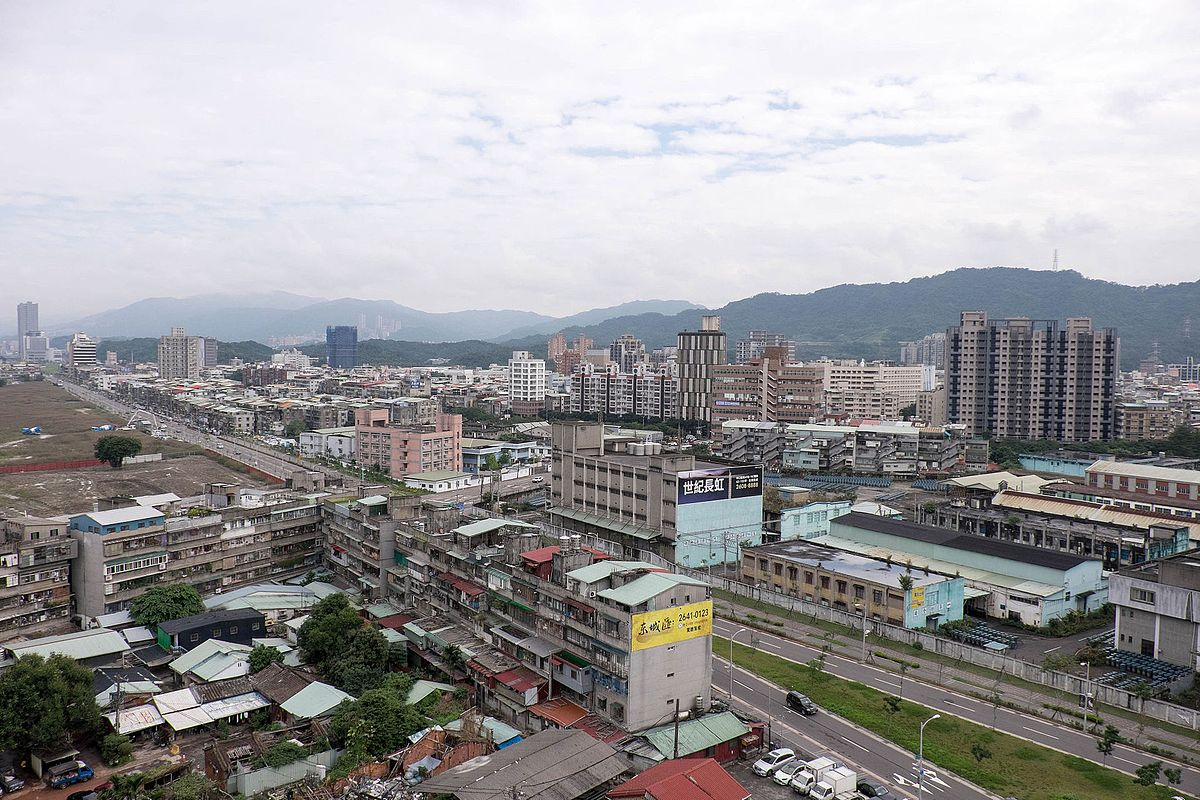 Cityscape of Nangang District, Taipei from New Silicon Valley Business Building 20141210a.jpg