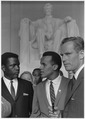 Civil Rights March on Washington, D.C. (Actors Sidney Poitier, Harry Belafonte, and Charlton Heston.) - NARA - 542061.tif