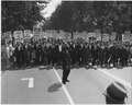 Civil Rights March on Washington, D.C. (Leaders marching.) - NARA - 542001.tif