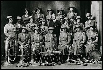 Clare, South Australia - Clare Girls Band 1914