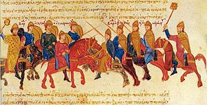 Clash between the armies of Bardas Skleros and Bardas Phokas.jpg