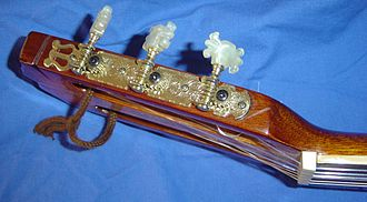 Machine head - The machine heads on a classical guitar. Note the exposed gears and the decorations.