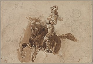 Armored Figure on Horseback (recto)