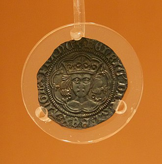 Mitton Hoard - A close-up of one of the coins from the Hoard