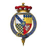 Coat of arms of Sir Edward Stanley, 1st Baron Monteagle, KG