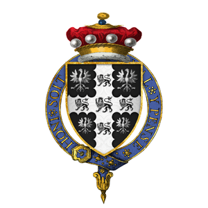 William Paget, 1st Baron Paget - Arms of Sir William Paget, 1st Baron Paget, KG