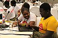 Coders from the Ghana Code Club at the Wikipedia workshop at the 2018 African Summit on Women and Girls in Technology.jpg
