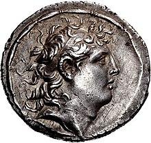 Munt van Diodotus Tryphon (bijgesneden), Antiochië op de Orontes mint.jpg