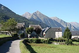 The village, with Col d'Azet in the background