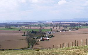 Dunsinane Hill - The village of Collace from Dunsinane Hill