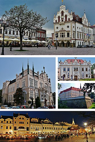 Rzeszów - Image: Collage of views of Rzeszów, Poland