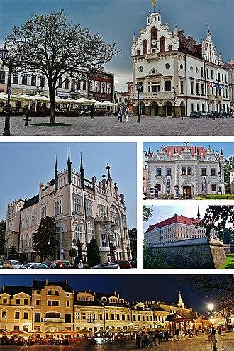 Rzeszów - Image: Collage of views of Rzeszów, Poland