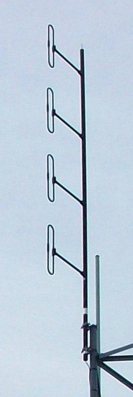 Collinear folded dipole antenna array