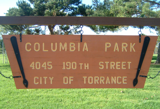 Columbia Park, Torrance, California - Image: Columbia Park Signage