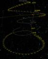 Comet 96P-Machholz 1 perihelion 2001-02 skymap.png