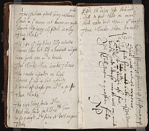 Anonymous manuscript containing poems by vario...