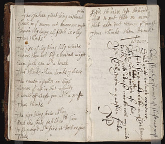 Commonplace book - A commonplace book from the mid-17th century