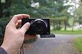 Compact fototoestel, zelfportret.JPG
