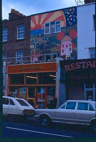 Compendium Books - The store's front in 1978