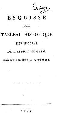 Esquisse d'un tableau historique des progrès de l'esprit humain cover