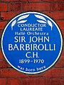 Conductor Laureate Hallé Orchestra Sir John Barbirolli C.H. 1899-1970 was born here.jpg