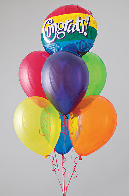 Balloons are given for special occasions, such as birthdays or holidays, and are often used as party decor. Congrats bqt.jpg