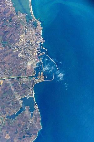 Port of Constanța - Constanţa from space, October 2002