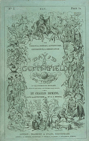 David Copperfield - Cover, first serial edition of 1849