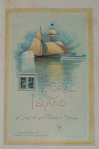 The Coral Island - Title page, illustrated 1893 edition of The Coral Island