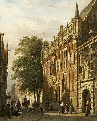 City Hall, Kampen - Image: Cornelis Springer City Hall, Kampen GLW CBCA 1899 1 22