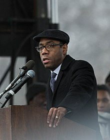 Cornell William Brooks, NAACP President & CEO, We Shall Not Be Moved Rally, Washington DC (CROP).jpg