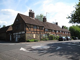 Limpsfield - Image: Corner of Detillens Lane, Limpsfield (geograph 3485720)