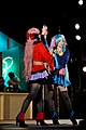 Cosplayers of Megurine Luka and Hatsune Miku, Tokyo Game Show 20110917b.jpg