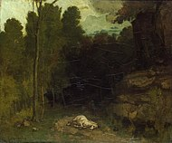 Courbet - Landscape with a dead horse - Hermitage.jpg