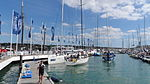 Cowes Yacht Haven during Cowes Week 2013 3.JPG