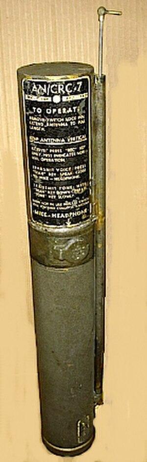 Survival radio - An AN/CRC-7 rescue radio.