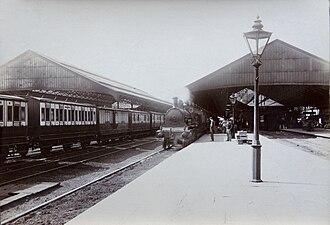 Crewe railway station - Crewe station around 1900.