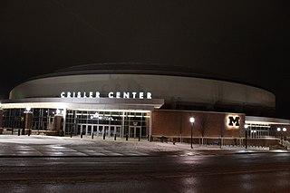 Crisler Center basketball arena at the University of Michigan