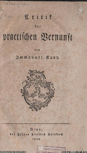 Critique of Practical Reason - 1788 German edition