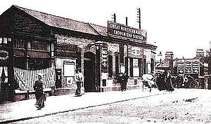 Crouch End railway station - Image: Crouch End station building circa 1910