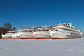 Cruise Ships in Winter at Khimki Reservoir Port View 10-feb-2015.jpg